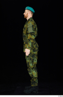 Victor army belt beret cap black shoes camo jacket camo trousers dressed standing whole body 0003.jpg