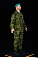 Victor army belt beret cap black shoes camo jacket camo trousers dressed standing whole body 0008.jpg