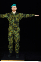 Victor army belt beret cap black shoes camo jacket camo trousers dressed standing t-pose whole body 0001.jpg