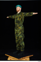 Victor army belt beret cap black shoes camo jacket camo trousers dressed standing t-pose whole body 0002.jpg