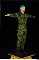 Victor army belt beret cap black shoes camo jacket camo trousers dressed standing t-pose whole body 0008.jpg