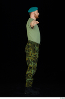 Victor army beret cap black shoes camo trousers dressed green t shirt standing t-pose whole body 0007.jpg