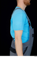 Victor arm blue t shirt dressed shoulder uniform upper body work overall 0002.jpg