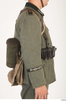 German army uniform World War II. arm army gas mask tin container soldier uniform upper body 0001.jpg