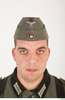 German army uniform World War II. army cap head soldier uniform 0001.jpg