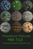 PBR Textures of Tile - 9 Pack
