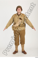 U.S.Army uniform World War II. army jacket soldier standing whole body 0001.jpg
