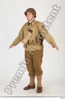 U.S.Army uniform World War II. army jacket soldier standing whole body 0002.jpg