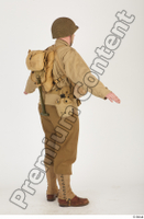 U.S.Army uniform World War II. army jacket soldier standing whole body 0006.jpg