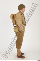 U.S.Army uniform World War II. army jacket soldier standing whole body 0007.jpg
