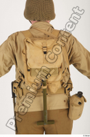 U.S.Army uniform World War II. army bag jacket shovel soldier upper body 0001.jpg