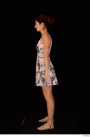 Charity casual dressed floral dress sandals standing whole body 0003.jpg