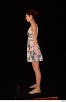 Charity casual dressed floral dress sandals standing whole body 0011.jpg