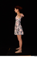 Charity casual dressed floral dress sandals standing t-pose whole body 0003.jpg