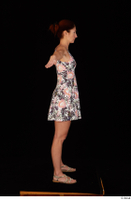 Charity casual dressed floral dress sandals standing t-pose whole body 0007.jpg
