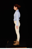 Charity blue shirt casual dressed standing white jeans whole body workers 0003.jpg