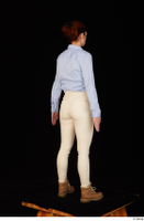 Charity blue shirt casual dressed standing white jeans whole body workers 0006.jpg