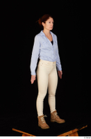 Charity blue shirt casual dressed standing white jeans whole body workers 0008.jpg