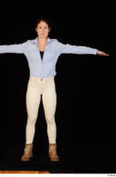 Charity blue shirt casual dressed standing t-pose white jeans whole body workers 0001.jpg