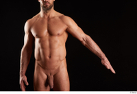 Larry Steel  1 arm flexing front view nude 0002.jpg