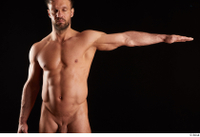 Larry Steel  1 arm flexing front view nude 0003.jpg