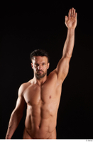 Larry Steel  1 arm flexing front view nude 0005.jpg