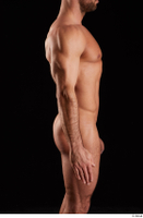 Larry Steel  1 arm flexing nude side view 0001.jpg