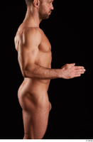 Larry Steel  1 arm flexing nude side view 0003.jpg
