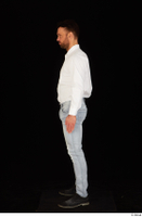 Larry Steel black shoes business dressed jeans standing white shirt whole body 0003.jpg