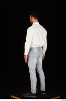 Larry Steel black shoes business dressed jeans standing white shirt whole body 0004.jpg