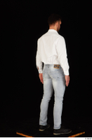 Larry Steel black shoes business dressed jeans standing white shirt whole body 0006.jpg