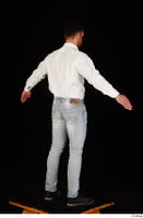 Larry Steel black shoes business dressed jeans standing white shirt whole body 0014.jpg