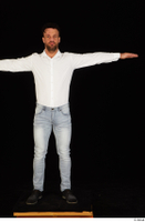 Larry Steel black shoes dressed jeans standing t poses white shirt whole body 0001.jpg