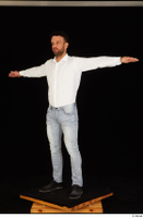 Larry Steel black shoes dressed jeans standing t poses white shirt whole body 0002.jpg