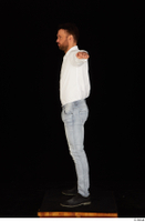 Larry Steel black shoes dressed jeans standing t poses white shirt whole body 0003.jpg