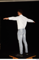 Larry Steel black shoes dressed jeans standing t poses white shirt whole body 0004.jpg