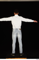 Larry Steel black shoes dressed jeans standing t poses white shirt whole body 0005.jpg
