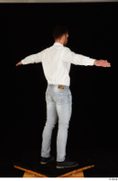 Larry Steel black shoes dressed jeans standing t poses white shirt whole body 0006.jpg