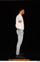 Larry Steel black shoes dressed jeans standing t poses white shirt whole body 0007.jpg