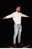 Larry Steel black shoes dressed jeans standing t poses white shirt whole body 0008.jpg