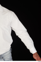Larry Steel arm business dressed upper body white shirt 0002.jpg