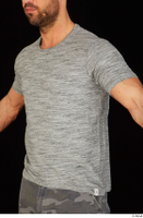 Larry Steel casual dressed grey t shirt upper body 0002.jpg