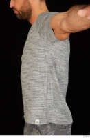 Larry Steel casual dressed grey t shirt upper body 0003.jpg
