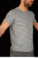 Larry Steel casual dressed grey t shirt upper body 0008.jpg
