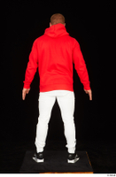 Dave black sneakers dressed red hoodie standing white pants whole body 0005.jpg