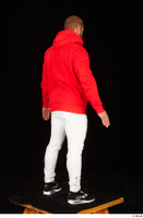 Dave black sneakers dressed red hoodie standing white pants whole body 0006.jpg