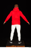 Dave black sneakers dressed red hoodie standing white pants whole body 0013.jpg