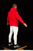 Dave black sneakers dressed red hoodie standing white pants whole body 0014.jpg