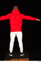Dave black sneakers dressed red hoodie standing white pants whole body 0021.jpg