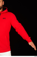 Dave arm dressed red hoodie upper body 0002.jpg
